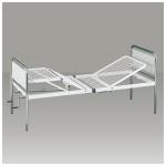 Double crank hospital bed with dismountable bed-board