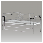 Tilting hospital bed side rails